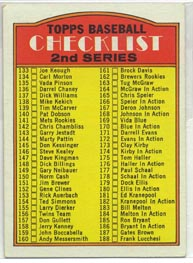 1972 Topps Baseball Cards      103     Checklist 133-263